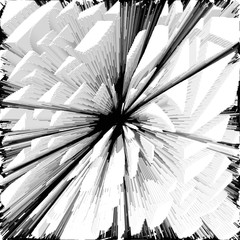 Abstract white black pattern