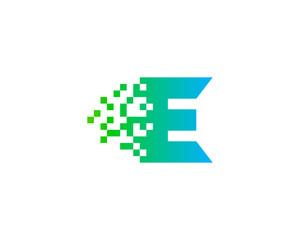 Letter Initial E Digital Logo Design Template