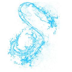 Blue Water Splashed