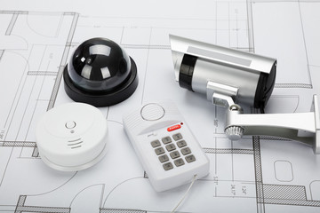 Security Equipment With Blueprint