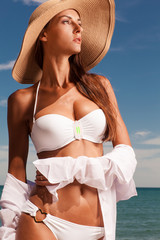 Beautiful girl at the beach.