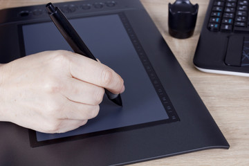 Hand graphic designer
