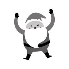 Santa claus xmas cartoon icon vector illustration graphic design