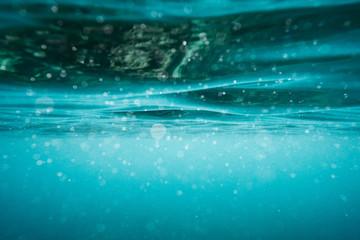 Underwater aqua wave surface background