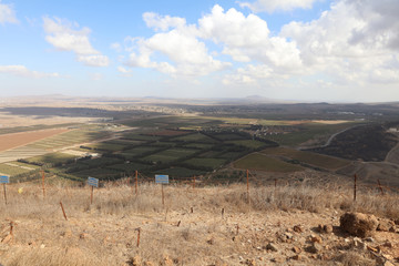 View from Golan Heights to Syria. Israel