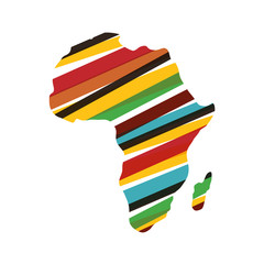 Africa map silhouette icon vector illustration graphic design