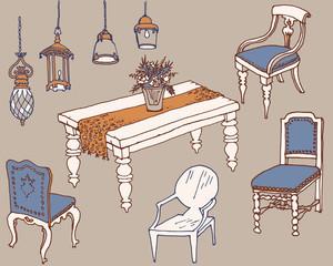 furniture  dinner1 color