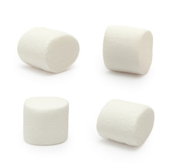 Marshmallows isolated on white background