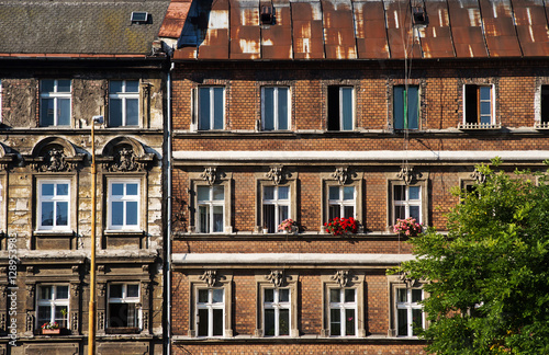 Wall Of An Old European House Wroclaw Poland Stock