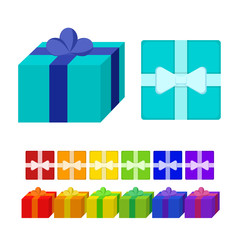Isolated colorful gifts on the white background.