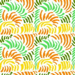 Artistic seamless pattern with abstract simply elements. Doodle colorful ink background for textile and wrapping paper