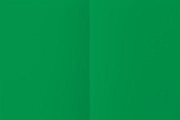 Green sheet of paper folded