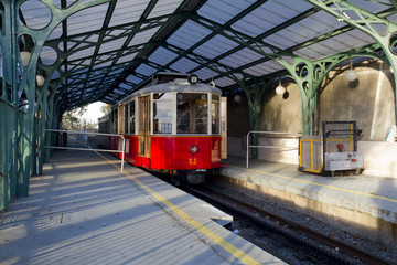 Carriage of Superga Tramway in Turin Italy