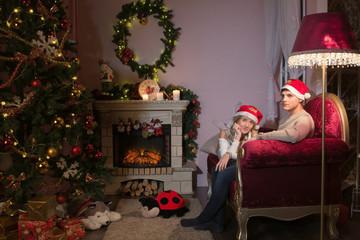 Light holiday of Christmas. Happy New Year. Beautiful, New Year tree. Светлый праздник рождества. С новым годом. Красивая, новогодняя ёлка