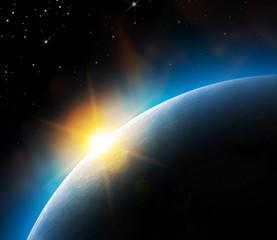 Vue de la terre depuis l'espace vectorielle 1