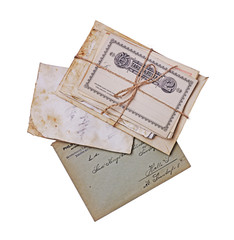 Old postcards, letters and envelopes
