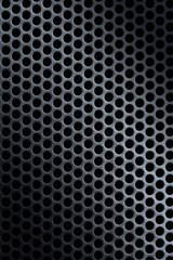 silver, perforated metal texture with circle mesh