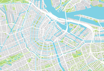 City map of Amsterdam
