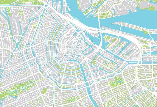 City map of Amsterdam