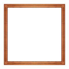 quadratischer Bilderrahmen aus Holz