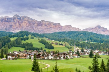 Wall Mural - View at the Alta Badia in Italy Dolomites