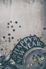 NYE: Faded Background With Copyspace For New Year's Eve Party