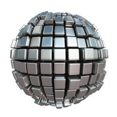 Metallic cube sphere