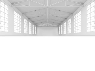 Large modern storehouse with windows