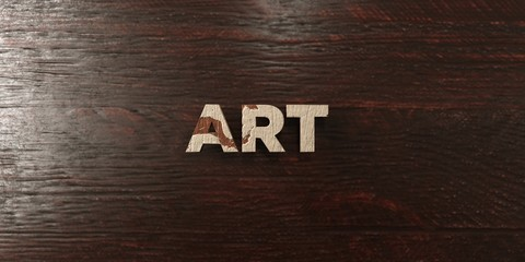 Art - grungy wooden headline on Maple  - 3D rendered royalty free stock image. This image can be used for an online website banner ad or a print postcard.