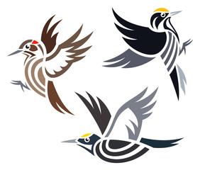 Stylized Woodpeckers