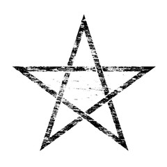 Grungy Pentangle Symbol
