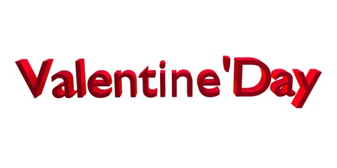Valentine's Day  3D rendered