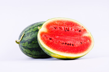 Watermelon is a healthy sweet fruiton white background fruit food isolated