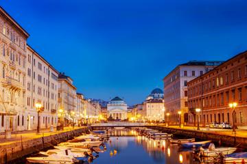 Fotobehang Las Vegas Trieste, the Grand Canal. Italy