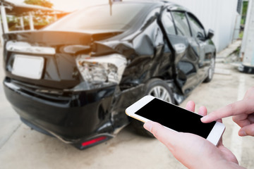 Car crash accident background