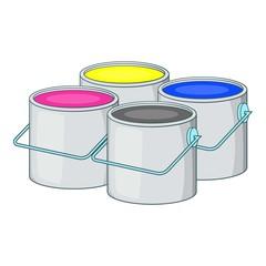 Printer ink icon. Cartoon illustration of printer ink vector icon for web design