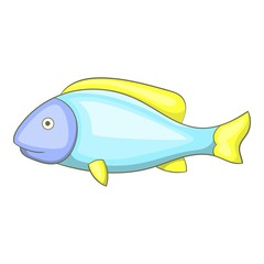 Fish icon. Cartoon illustration of fish vector icon for web