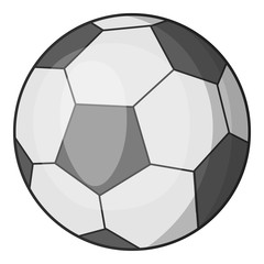Soccer ball icon. Cartoon illustration of soccer ball vector icon for web