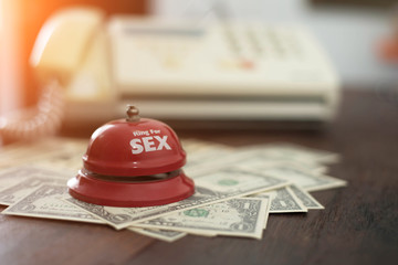 Service bell - money. Business concept
