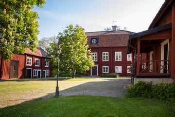 Innenhof Gutshof in Köping in Schweden