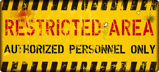 restricted area sign,vector