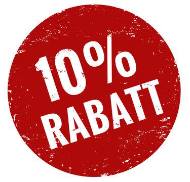 10 % Rabatt Stempel rot
