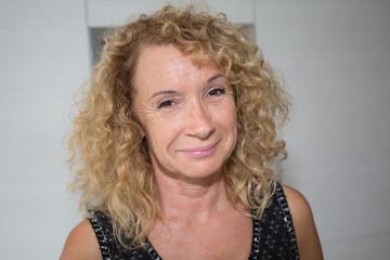 smiling senior woman indoors