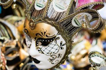 Close up from italian, venedig carnival mask