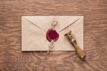 envelope with a stamp