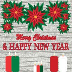 new year and christmas postcard