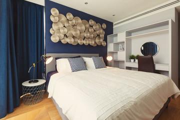 Bed room modern interior design
