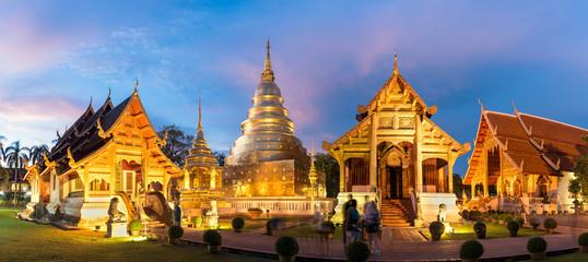 The golden temple, landmark in Chingmai. Wat Pra Singha.
