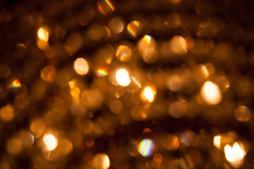 Defocused abstract golden lights