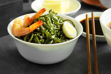 Delicious fresh seaweed salad